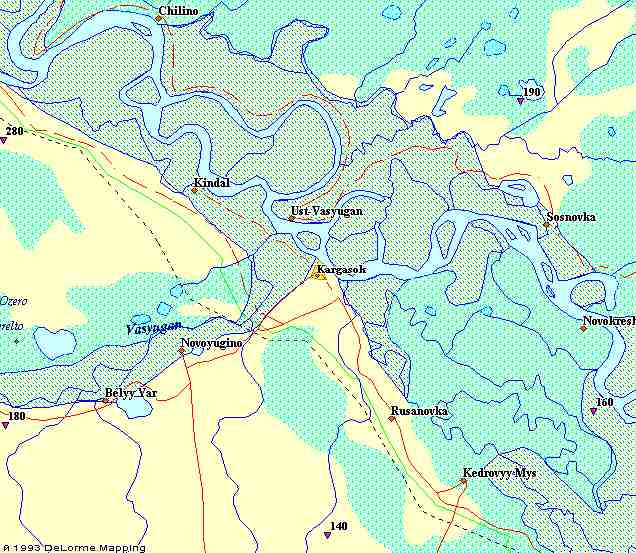 рыболовная карта томск